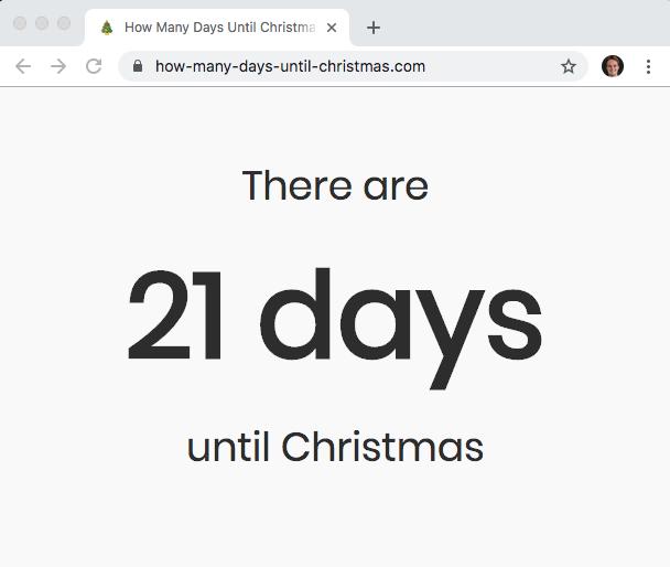 How Many Days Until Christmas? (dot com)