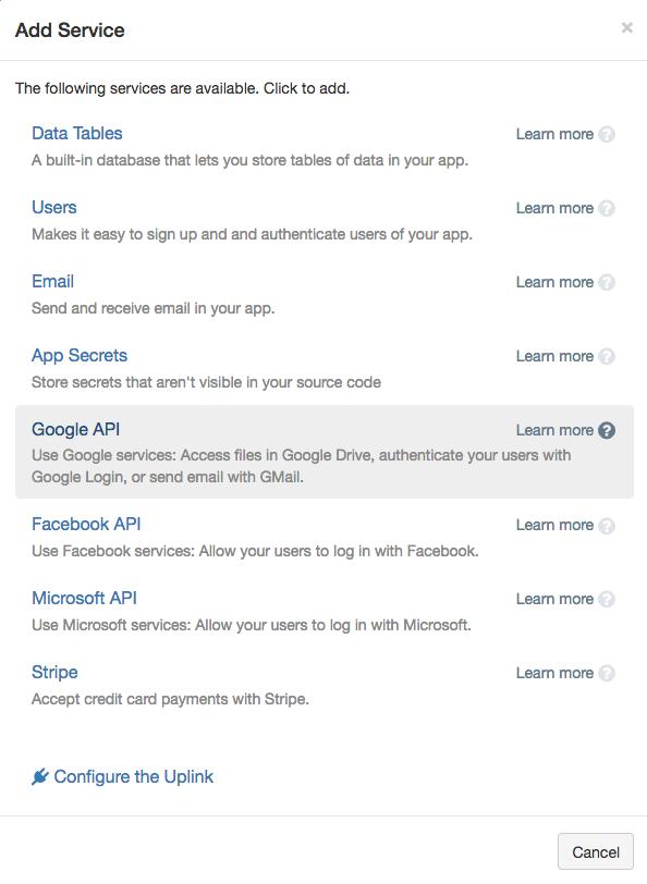 Anvil Docs   Google Integration