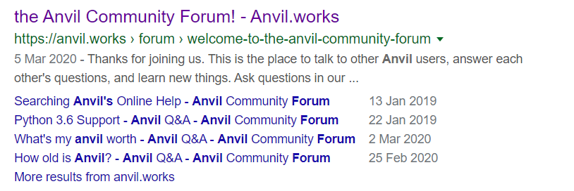 anvil forum